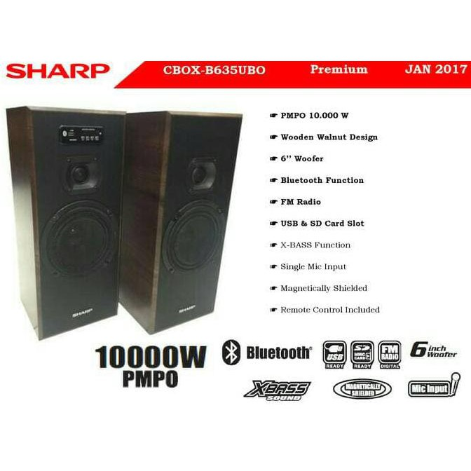 Sharp Speaker Aktif CBOX-B635UBO Bluetooth Connection Mantap Habis Garansi resmi | Shopee Indonesia