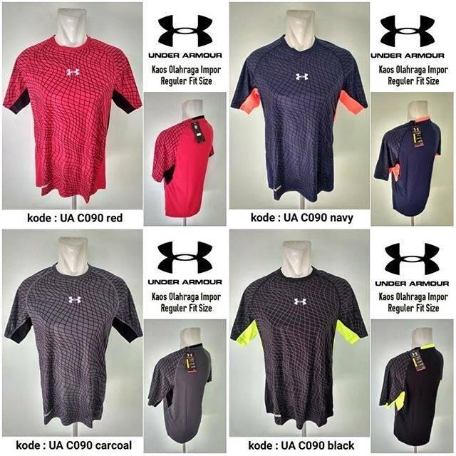Baju Gym UA 503   OGU-8 Grey Kaos Olahraga Under Armour Gym Import ... 63b235e579