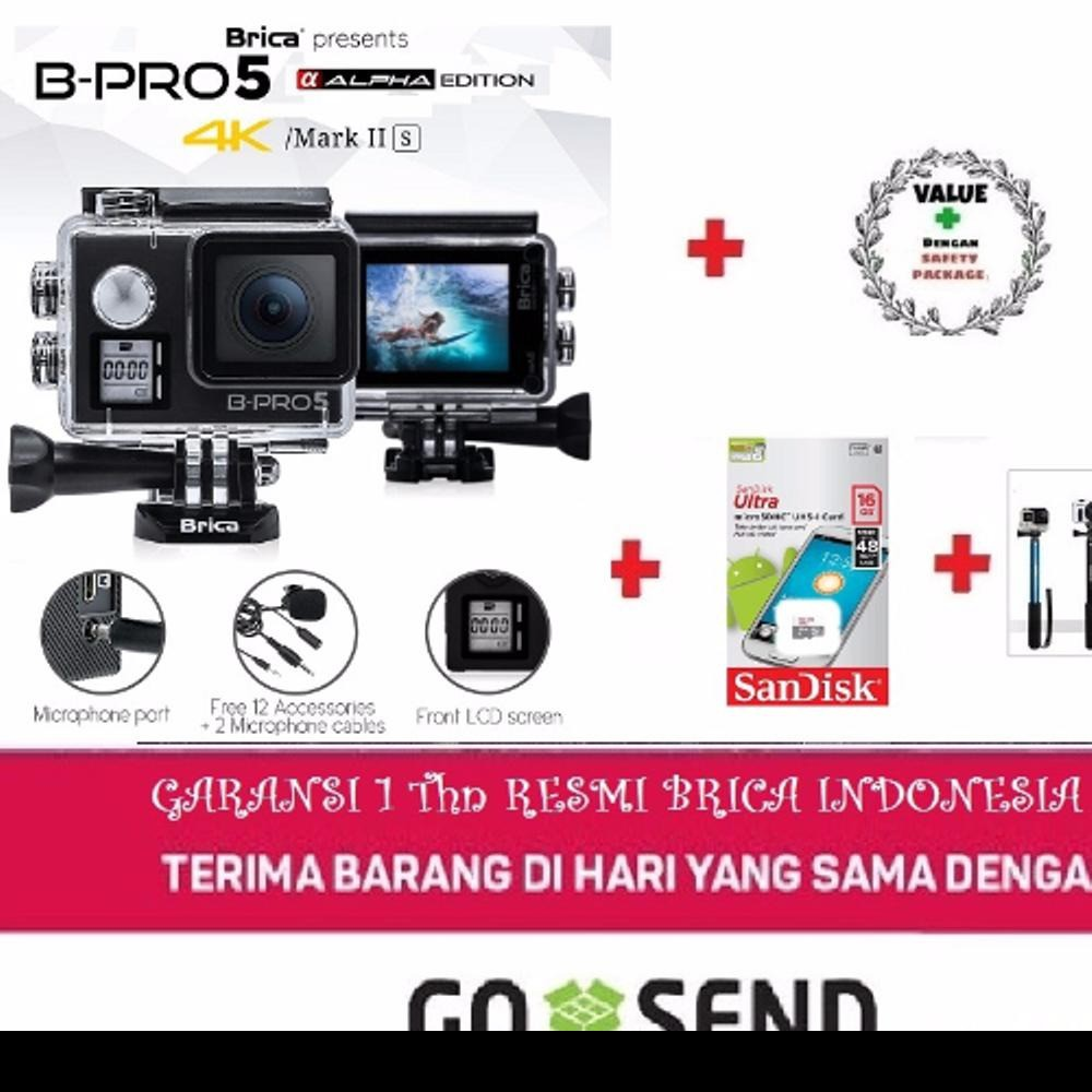 Paket - Brica B-Pro 5 Alpha Edition 4K Mark II S - AE2S Silver - Action Bag & Memory Card 16GB | Shopee Indonesia
