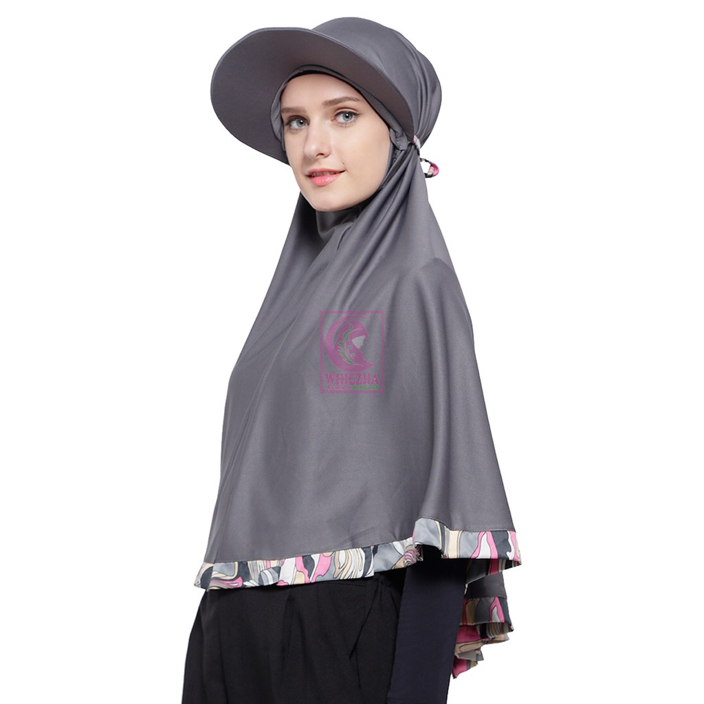 Hijab Traveller Kerudung Olahraga Muslimah Syar I Kekinian Shopee Indonesia