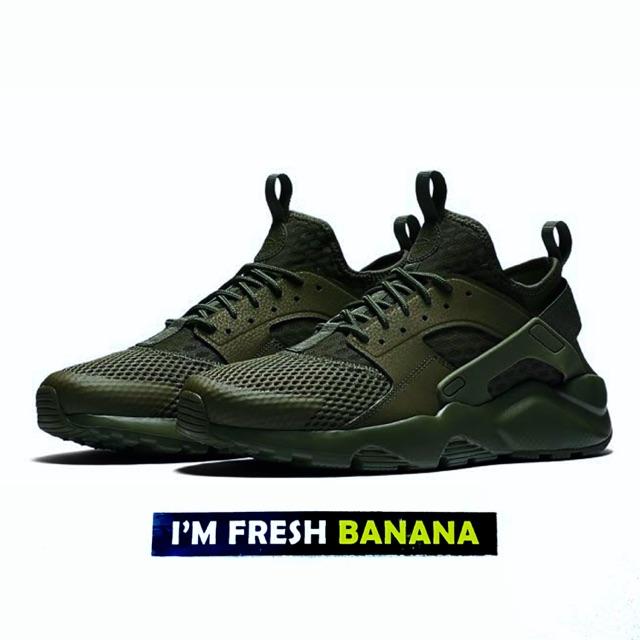 PREMIUM ORIGINAL Sepatu Air Huarache Ultra Grip Gripp Krem Tan Brown Grey Green