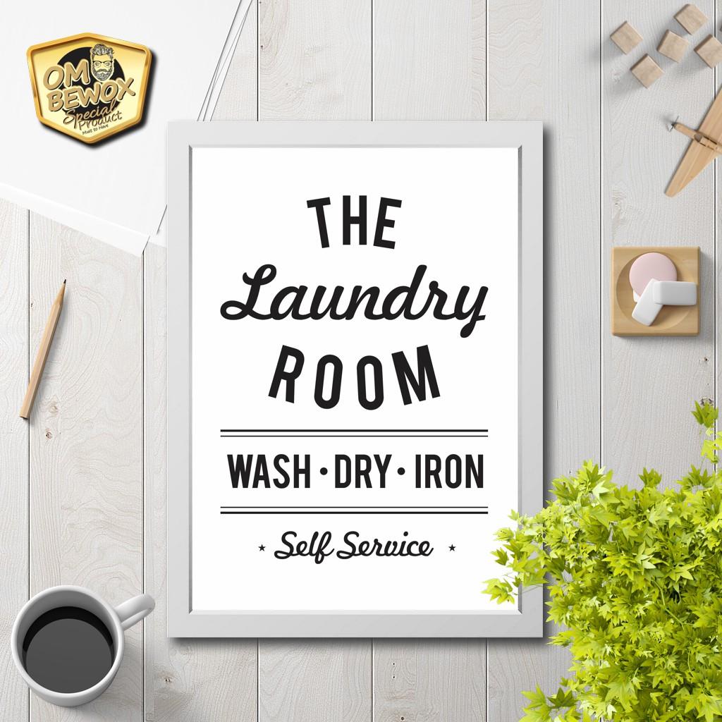 Dekorasi Dinding Poster Hiasan Dinding Laundry Room 1 Scandinavia Minimalis Shopee Indonesia