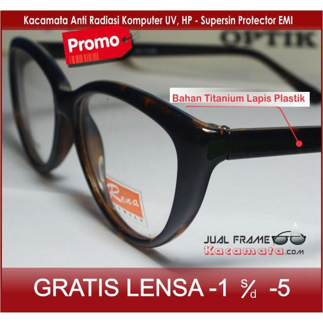 Frame Kacamata Anti Patah + Lensa Minus Plus Anti Radiasi Komputer Pria  wanita cewek cowok Fashion 5c838bf42b