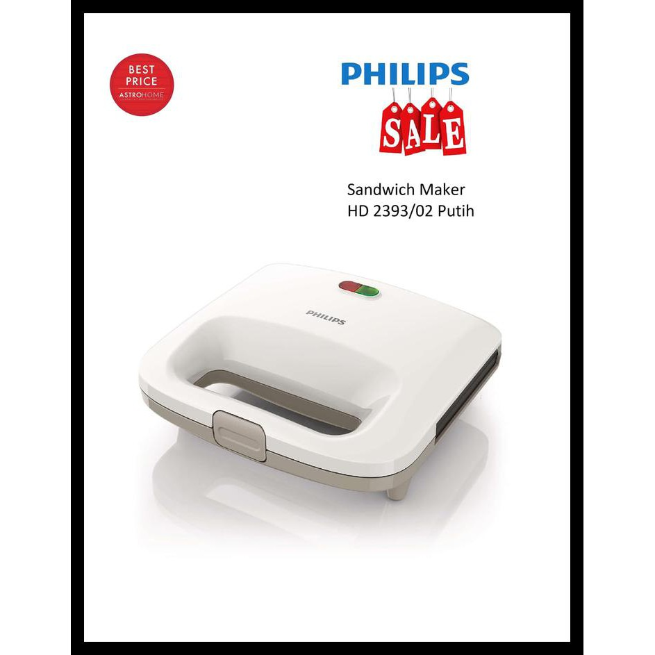 Philips HD 2393/02 Sandwich Maker putih GARANSI RESMI PHILIPS | Shopee Indonesia