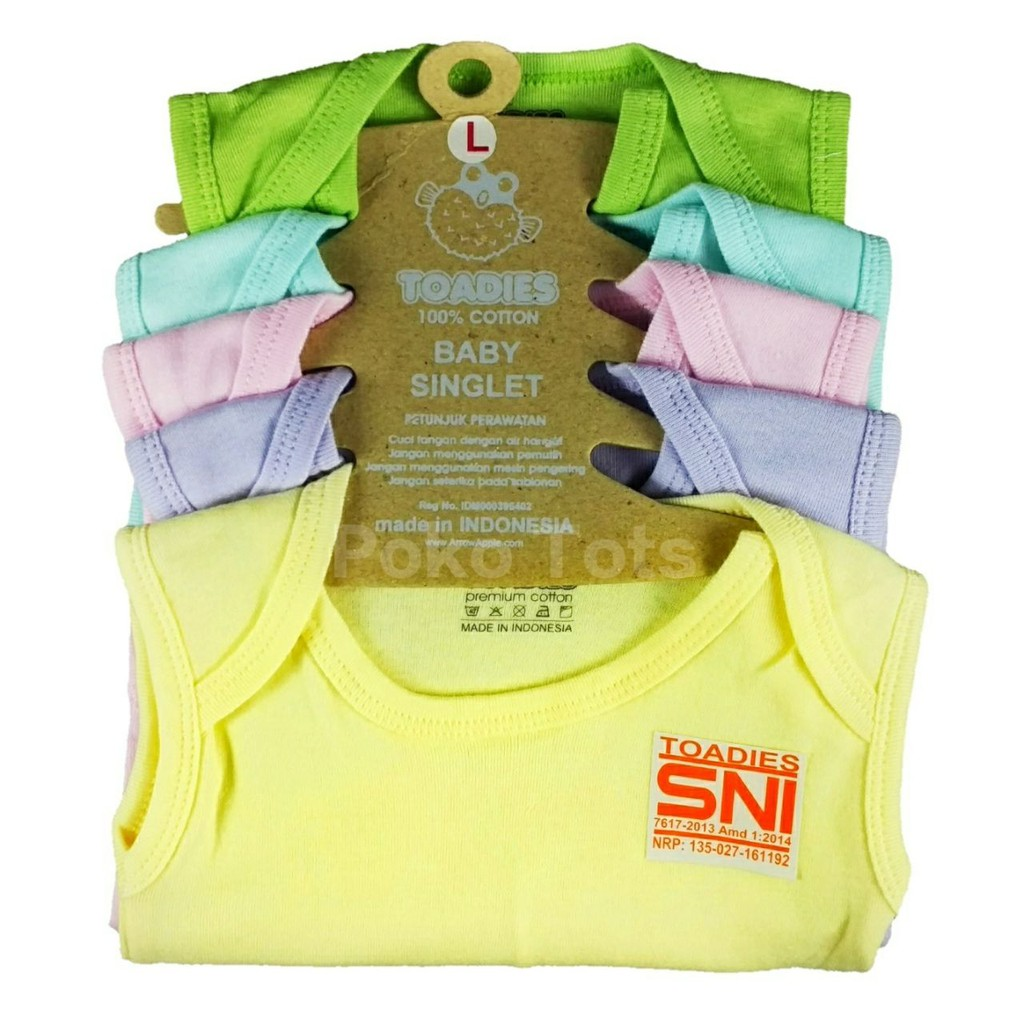 Toadies Kaos Dalam Singlet Baby Clara Bayi Anak Girls Isi 5 pcs | Shopee Indonesia