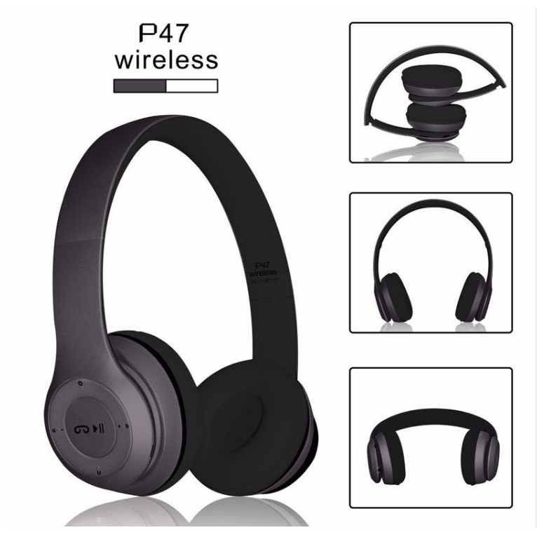 [Bayar Di Tempat]homies P47 Bluetooth Card Headset Wireless Stereo Headphones Available | Shopee Indonesia