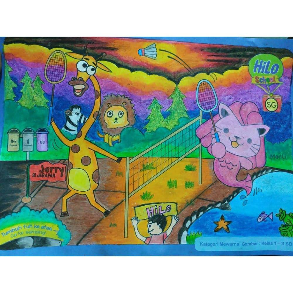 Crayon Titi Putar 12 Warna Panjang Original