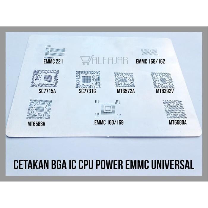 Cetakan BGA IC CPU Power Emmc Universal Samsung Xiaomi Oppo VivoLenovo - Perak