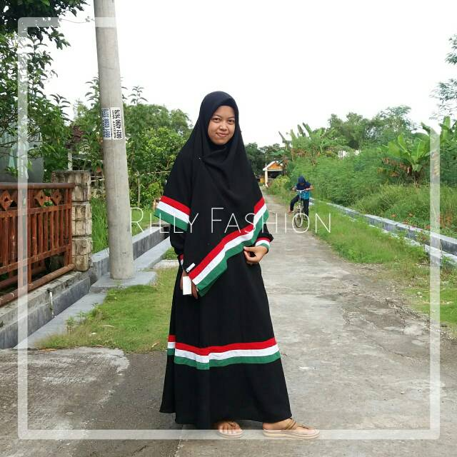Gamis Palestina Palestine Palestin Gaza Syari Muslim Niqobis Remaja