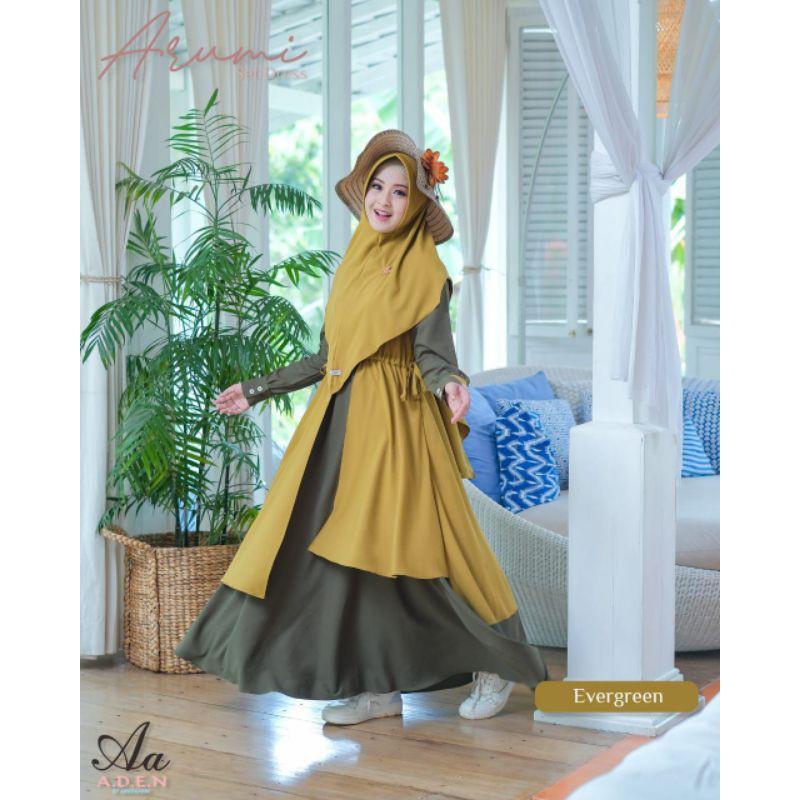 Gamis terbaru/dress terbaru/gamis lebaran arumi aden hijab