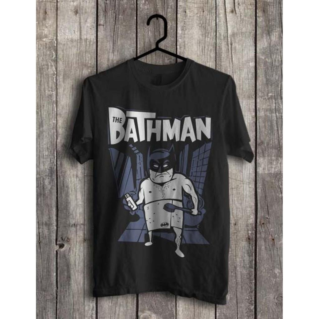 Kaos Batman Bathman Superhero Komik Dc Justice League Parodi Hitam