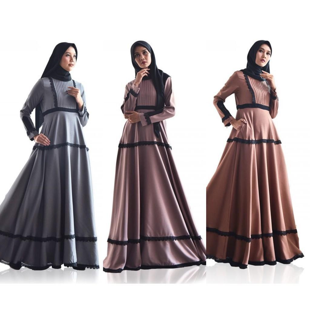 [Dress Muslim] Radifa Dress by Zalifa Exclusive Collection - Baju Muslim Wanita - Gamis Gamis Wanit