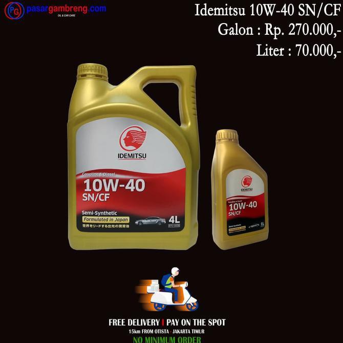 New Product Oli Mobil Idemitsu Sn Cf 10W40 Semi Synthetic 1 L Untuk Suzuki Free Ongkir