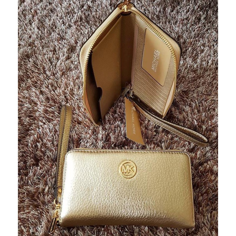 2ff8a65ea057 ... best price dompet michael kors original mk fulton phone wallet pale  gold shopee indonesia 057a7 74b26