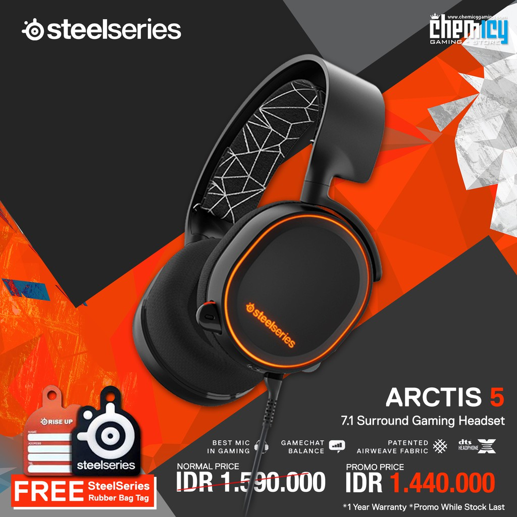 Steelseries Arctis 5 Usb Gaming Headset Rgb Dts 71 Surround Sades 919 Antena Shopee Indonesia