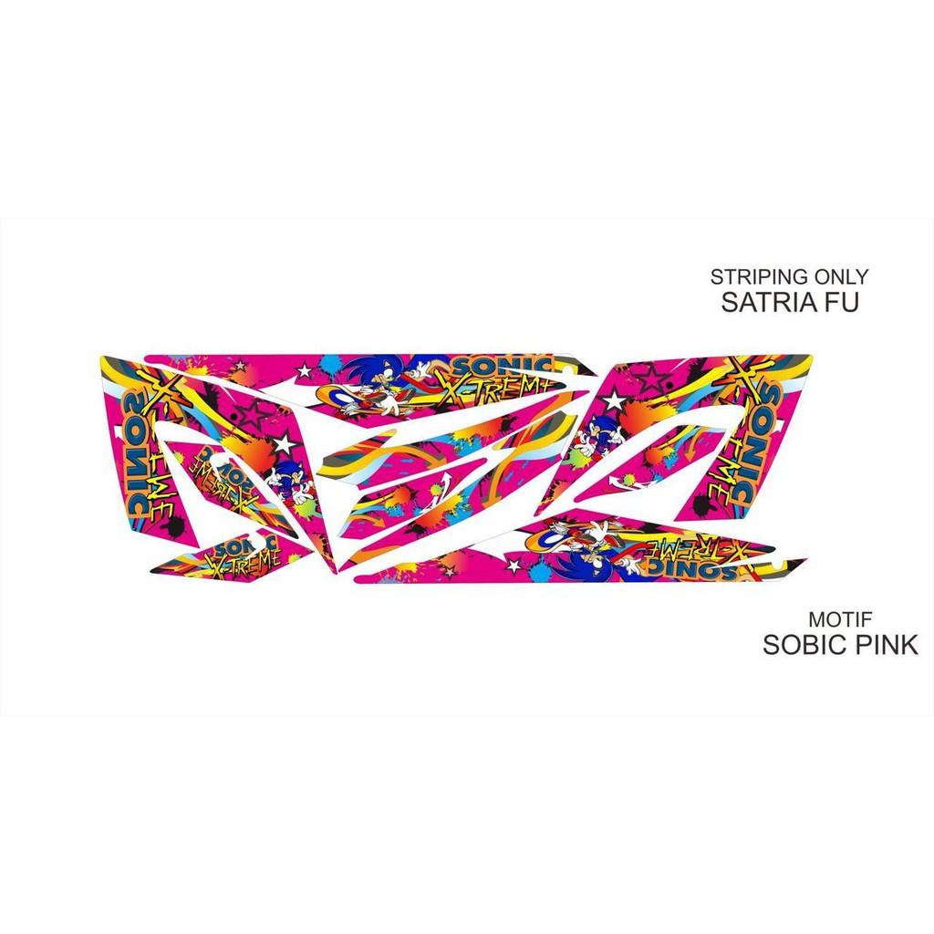 Striping Variasi Satria FU NEW Sonic Pink
