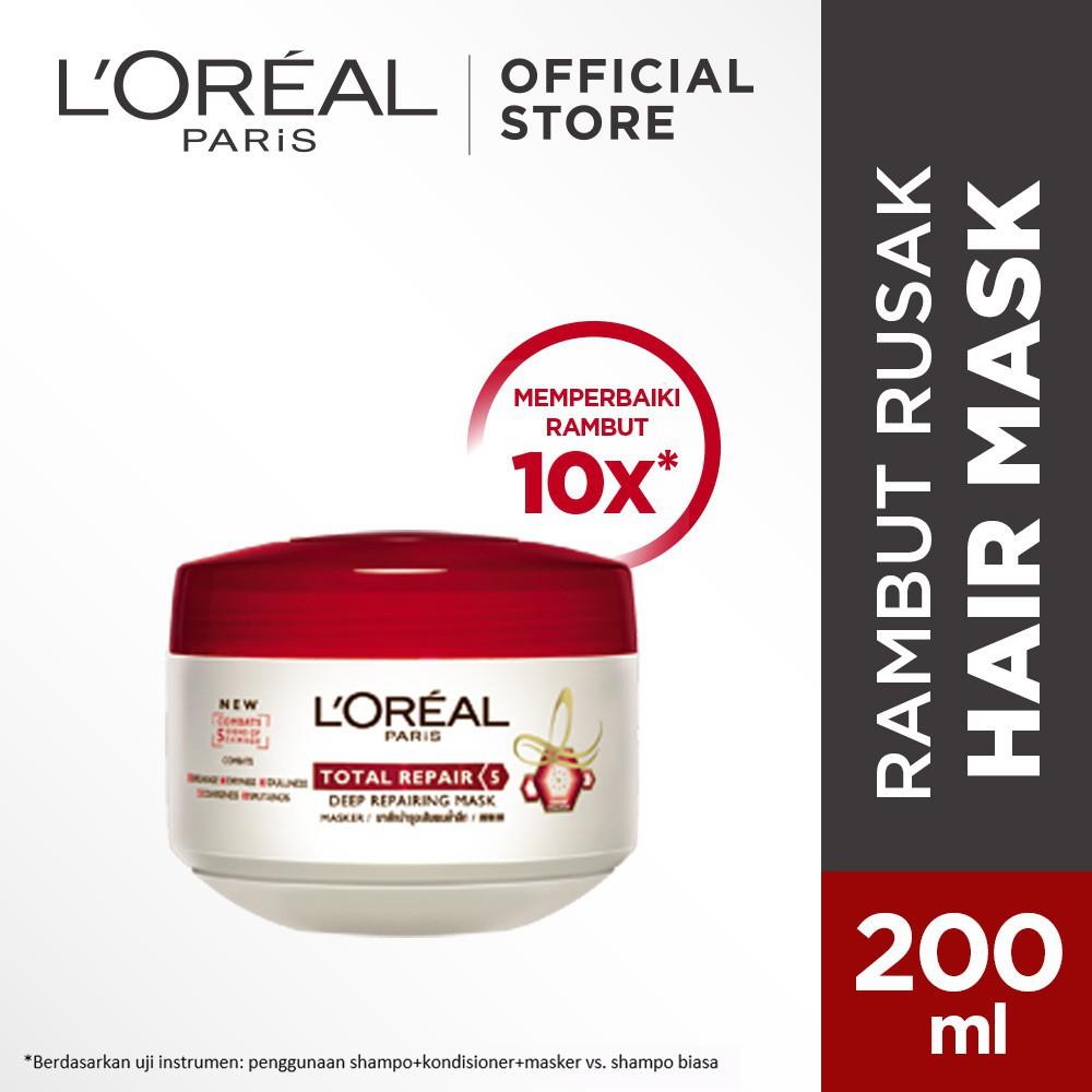 Loreal Paris Total Repair 5 Hair Mask 200ml Shopee Indonesia L Oreal Repair5