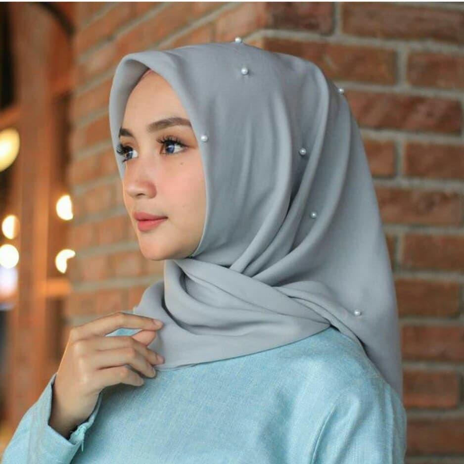 Satuan Ecer- Hijab Jilbab Kerudung Segiempat Segi4 Square
