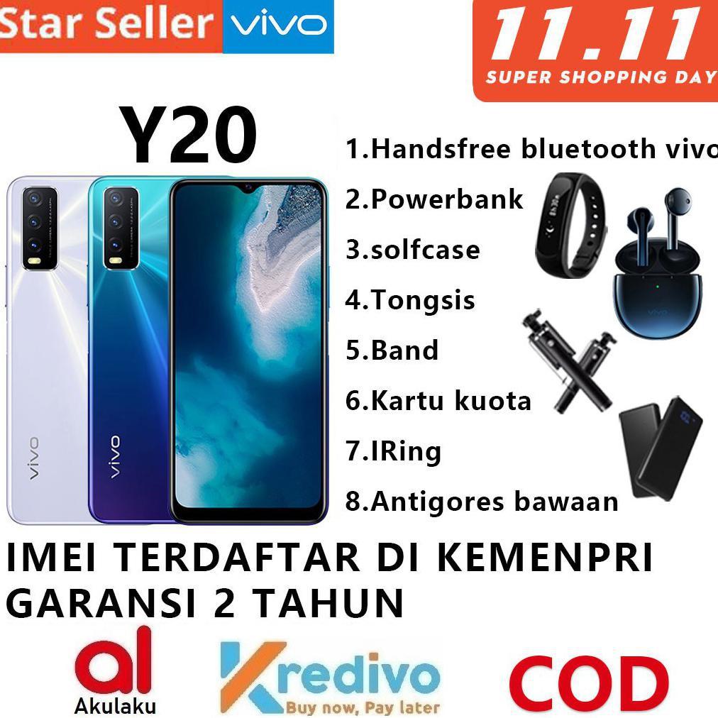 COD AKTIF]] VIVO Y20 VIVO Y12  RAM 3/64GB 3/32GB Garansi Resmi 100% Original 2020 handphone murah