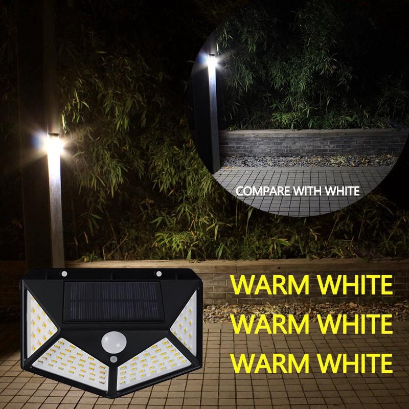 Lampu Taman 100 Led 3 Mode Tenaga Surya Anti Air Dengan Sensor Gerak Untuk Outdoor Shopee Indonesia