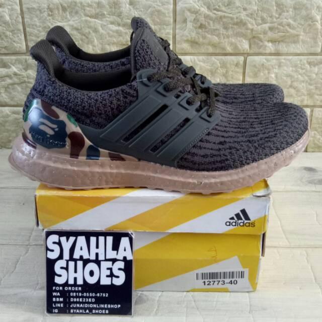 Sepatu Sneakers Olahraga Model Adidas Ultra Boost 3 0 Ad X Bape Untuk Pria Shopee Indonesia