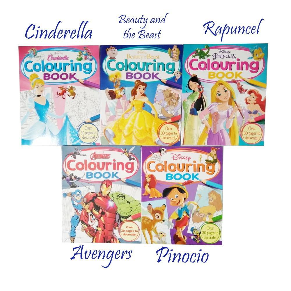 Colouring Book Buku Mewarnai Menggambar Disney Marvel Mickey By Autumn Publishing Bbw