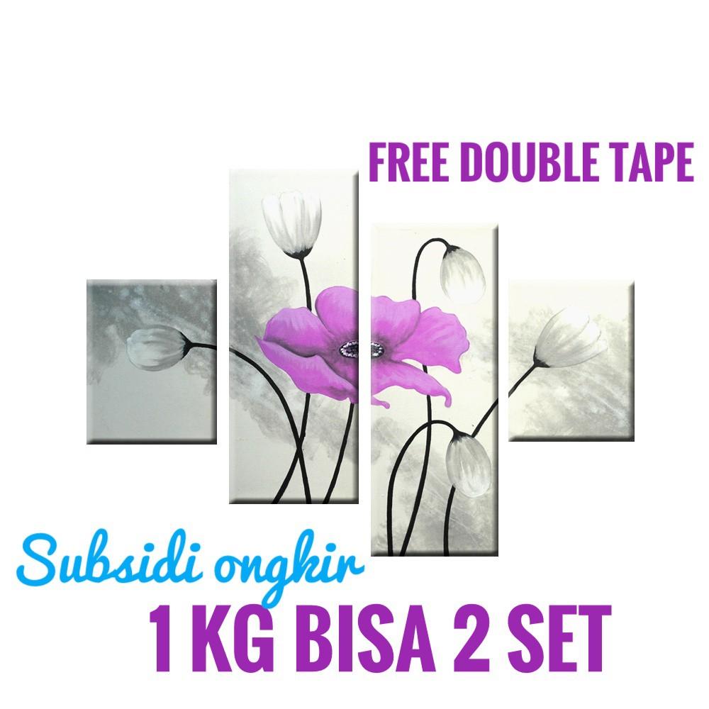 Lukisan Bunga Purple C4 SHP Hiasan Dinding Dekorasi Rumah