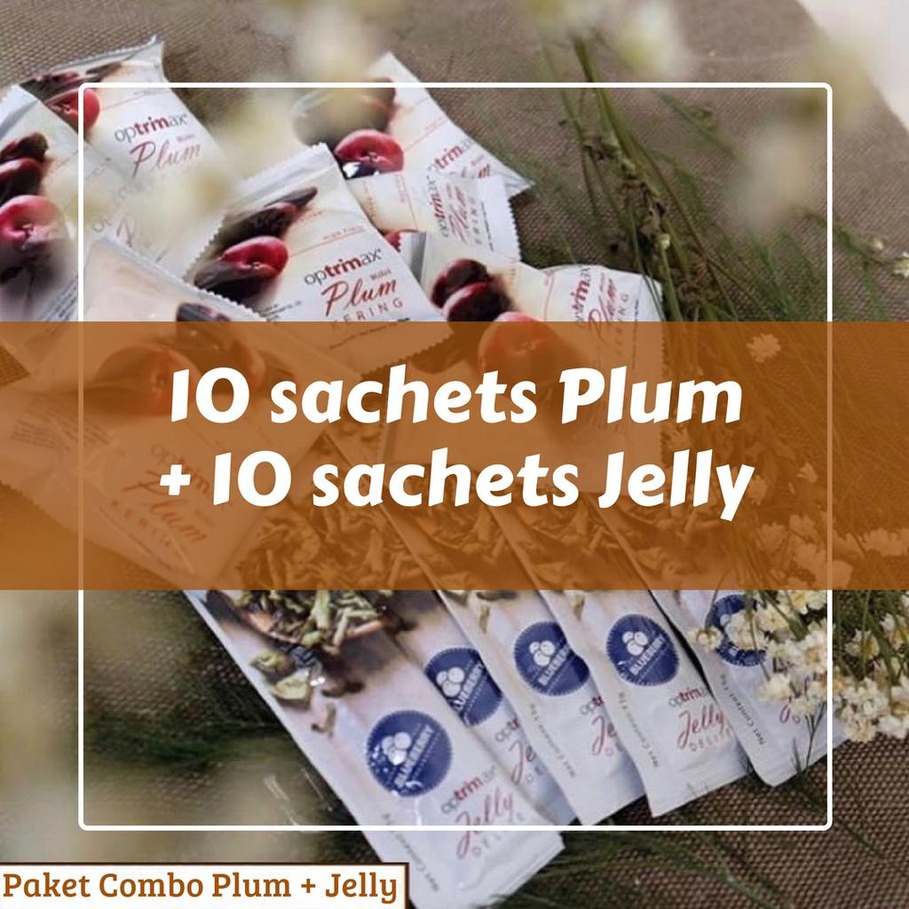 Optrimax Buah Plum Kering 7 Pcs Diet Paket Dan Jelly Delite Original Pelangsing 100 Shopee Indonesia