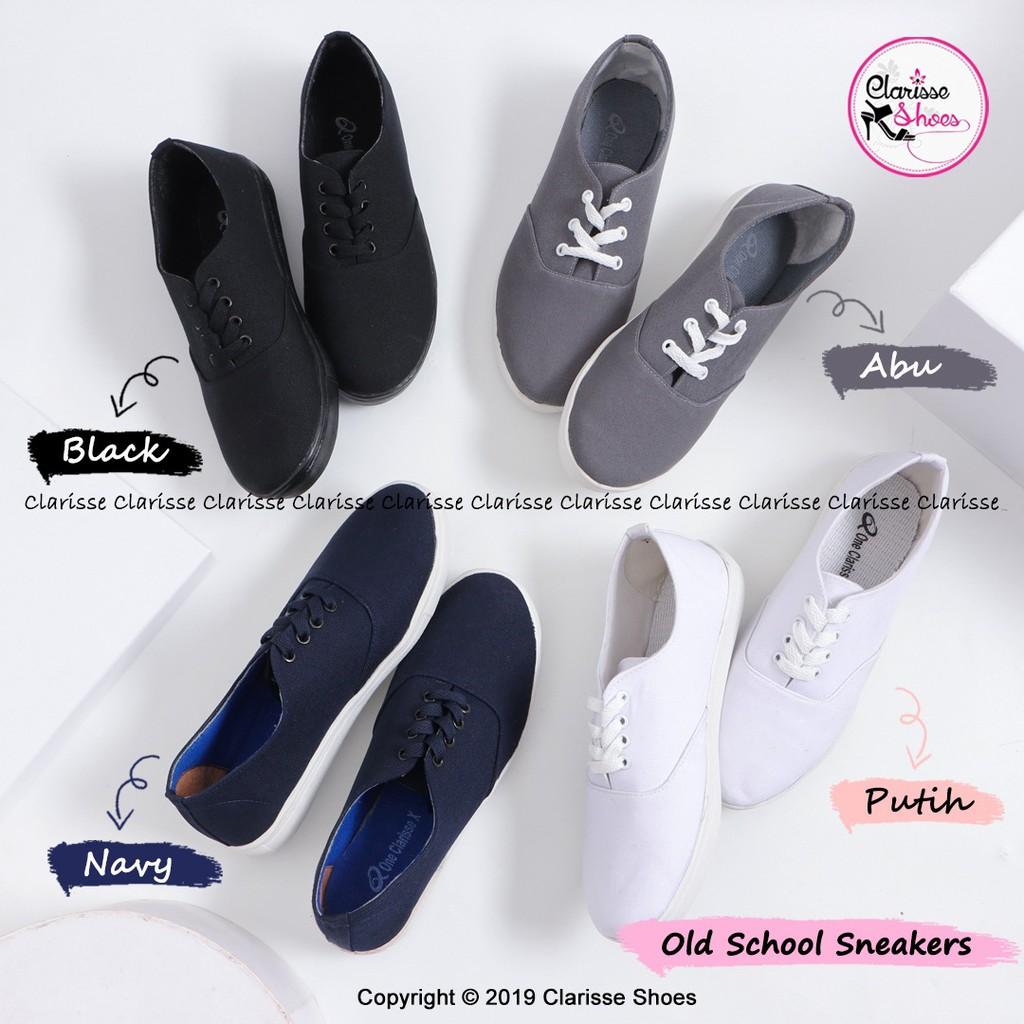 Clarisse Sepatu Tali Wanita Old School Sneakers Wanita Trendy