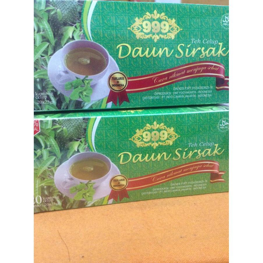Teh Daun Sirsak Shopee Indonesia Herbal Kemasan 1 Box 25 Celup