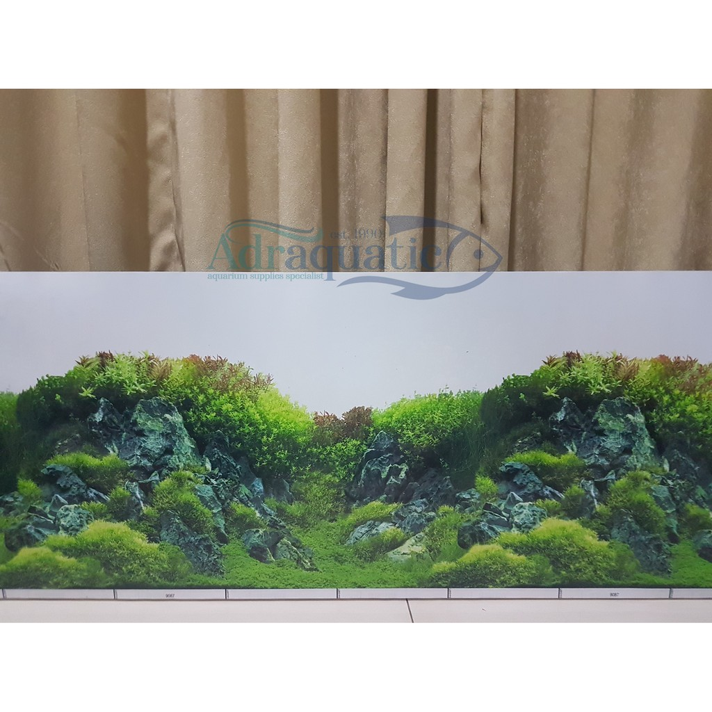 Wallpaper Aquarium Uk 30cm Motif 9087 Background Aquascape Per 1 Meter Shopee Indonesia