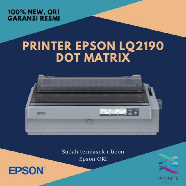 Printer Epson Lq2190 Lq 2190 Dot Matrix Sudah Termasuk Ribbon Shopee Indonesia