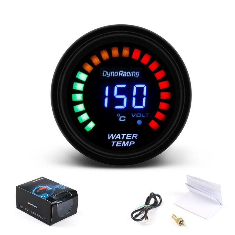 """2/"""" inch 52mm Car Blue Digital LED Water Temp Temperature Gauge Meter With Sensor"""