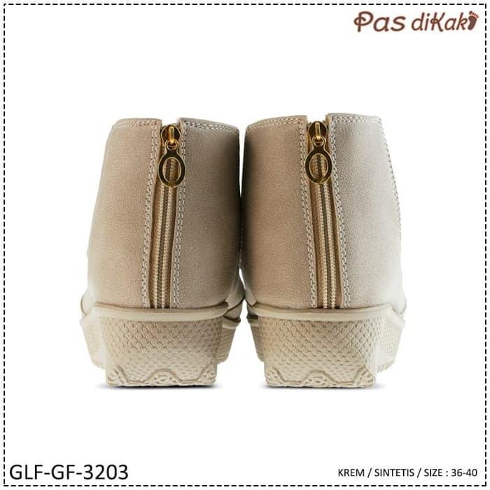 NEW SEPATU CASUAL CHELSEA BOOT WEDGE WANITA | GLF-GF-3203
