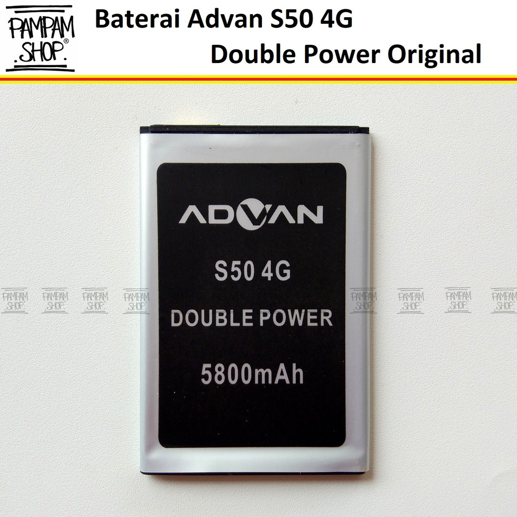 Baterai Handphone Advan S50 4G Double Power Original OEM Batrai Batre Battery Ori Dual Power