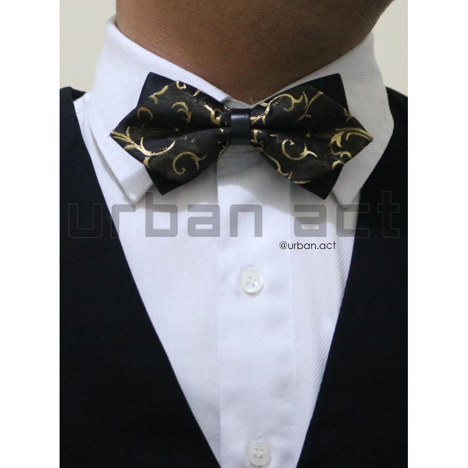 Dapatkan Harga Dasi Kupu Diskon Shopee Indonesia Bowtie Polos Motif Wedding Best Man Polka Black Bow Tie