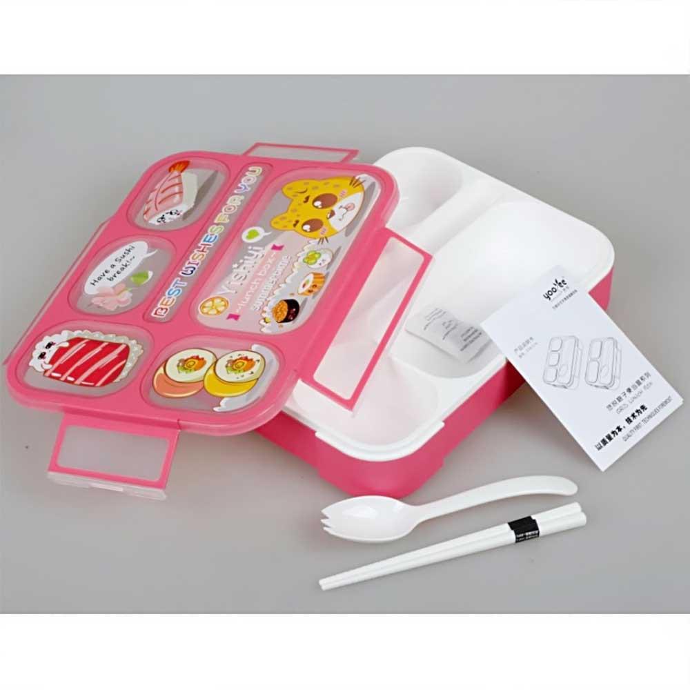 Yooyee Mini Kotak Makan Grid Bento Lunch Box Anti Bocor Sekat 3 Dan Leakproof 578 Tosca 4 Packing Bubble Karton Shopee Indonesia