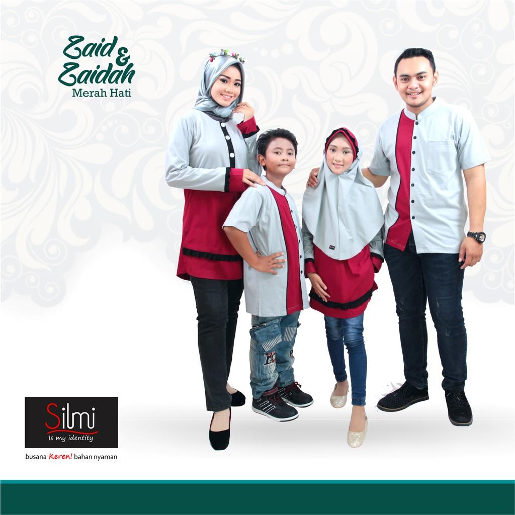 Baju Couple Keluarga Busana Muslim Sarimbit Gamis Syari Koko Pria Anak Wanita Lebaran / Nibras 57 | Shopee Indonesia
