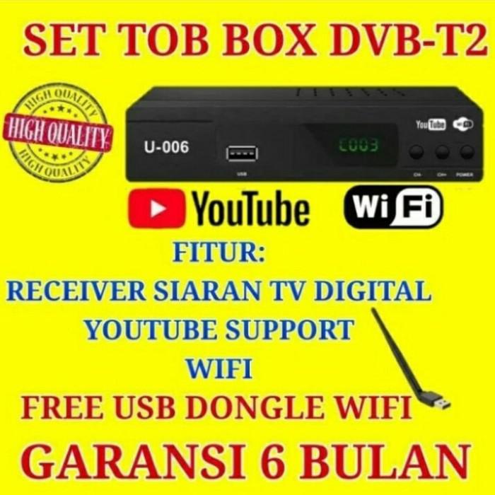 Receiver | Ez-Box Set Top Box Dvb-T2 Penerima Siaran Televisi Digital - Free Dongle