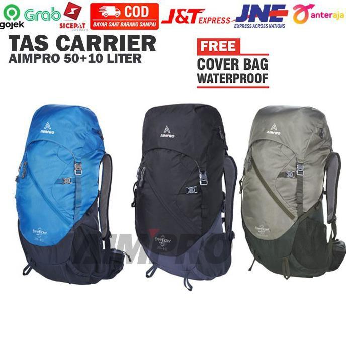 carrier keril karrier tas gunung termurah AIMPRO tas carrier 50+10 L - Multi Warna