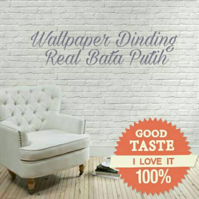 pusat wallpaper foam 3d brick emboss bata alam putih dinding stiker