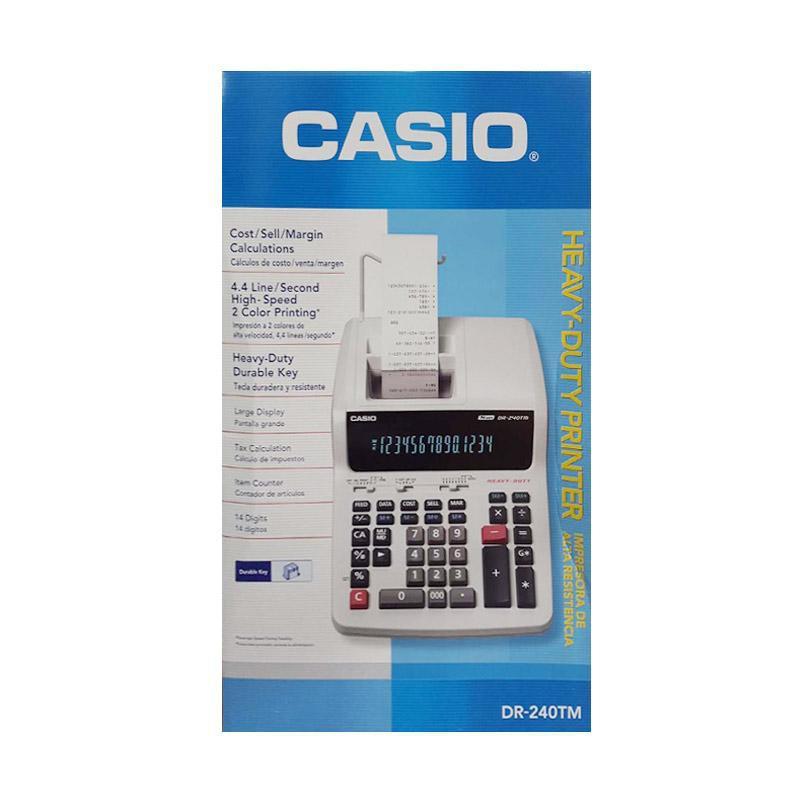 ORIGINAL Casio Printing Calculator DR-240 TM Listrik Kalkulator Print | Shopee Indonesia
