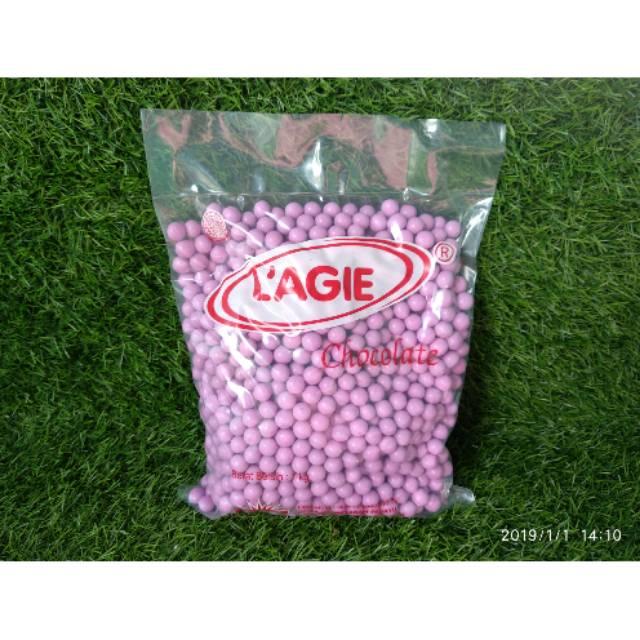 Coklat L'agie Miniball Pink 1kg / Lagie minibal pink 1kg
