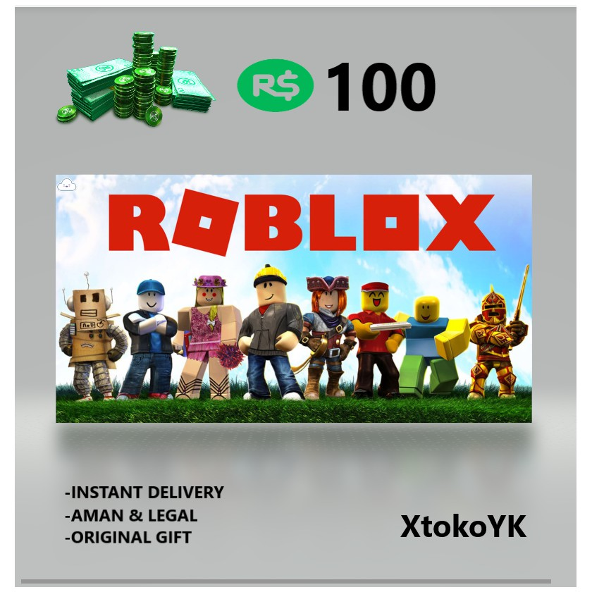 ROBUX 100 ROBLOX GIFT CARD INSTANT DELIVERY