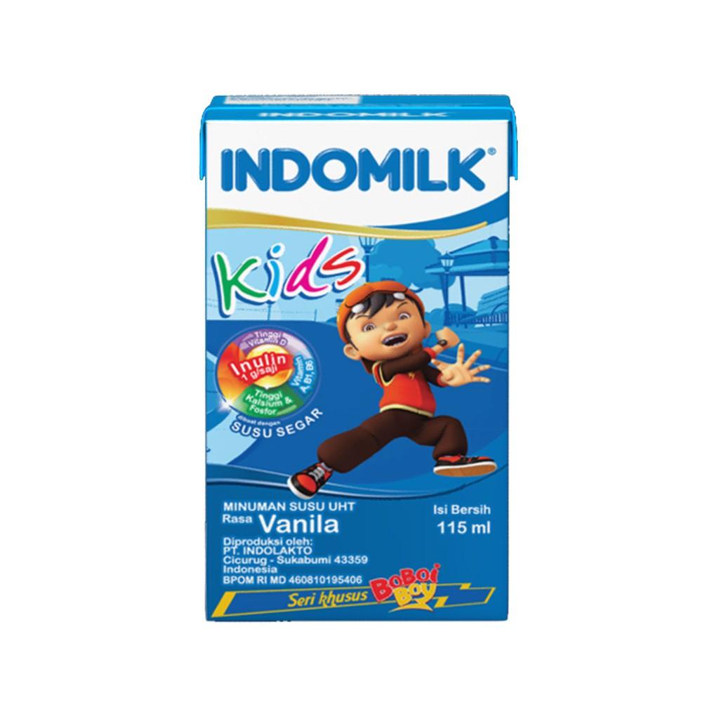 Indomilk Kids Susu Uht Coklat Isi 40 X 115 Ml Shopee Indonesia Milo 18g 10sachet Gratis 1sachet
