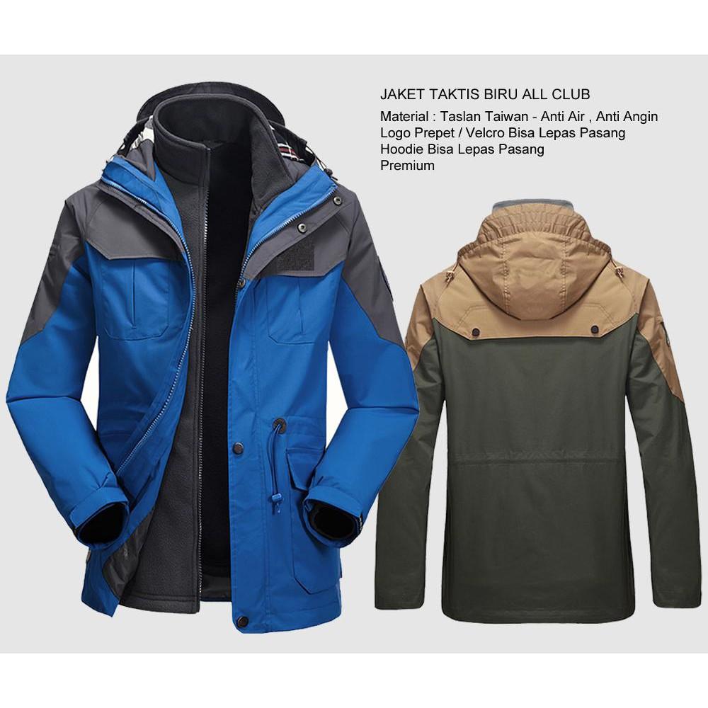Jaket Parka Gunung Taktis Biru Waterproof Terbaru  8ba2383f9a