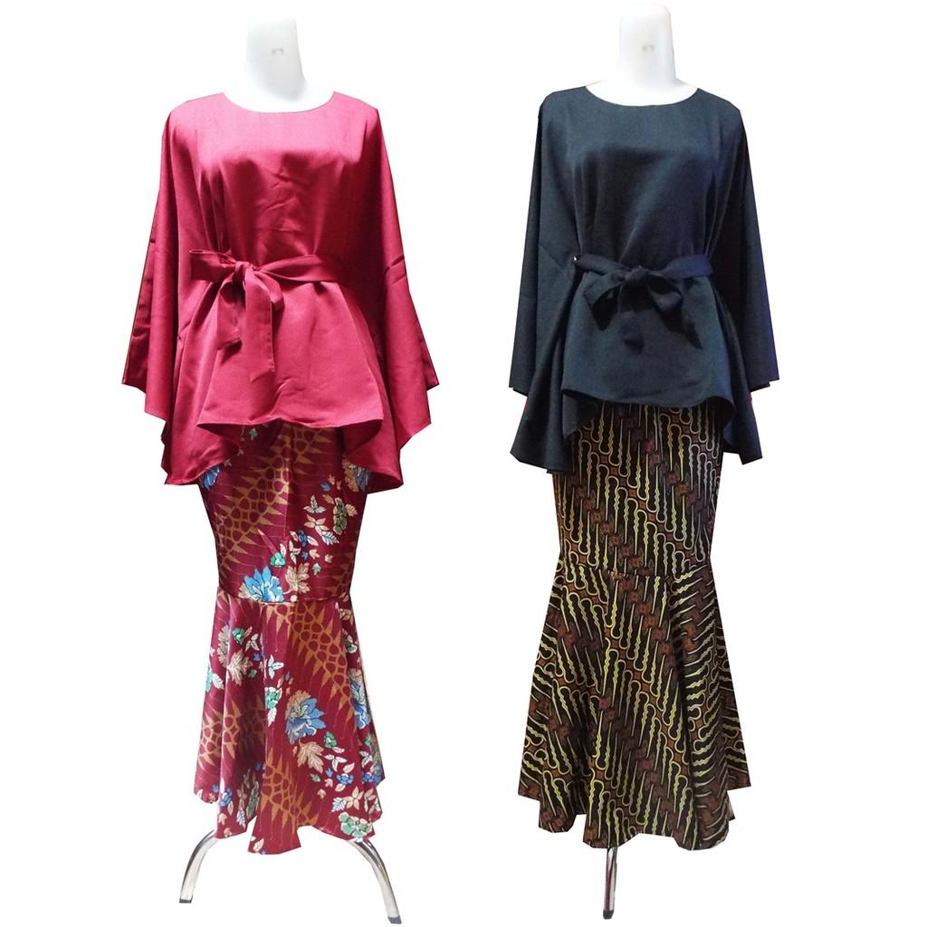 Model Kebaya Terbaru Modern Muslim Batwing Rok Duyung
