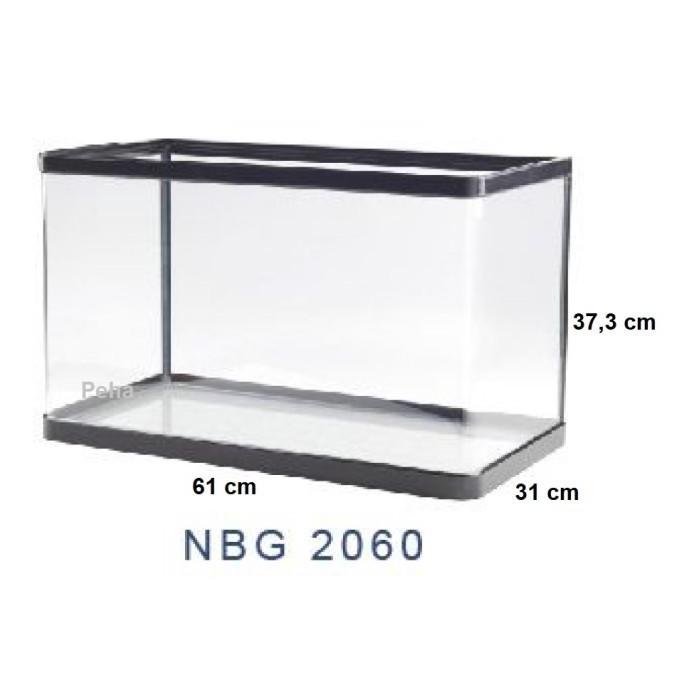 Ready...Ready...Ready...] Aquarium Ikan - Akuarium Nisso Jepang Manta - Kaca Lengkung Nbg 2060