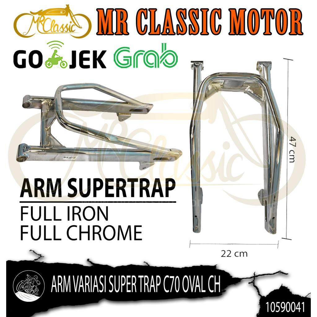 Arm Variasi Super Trap C70 Oval Crome