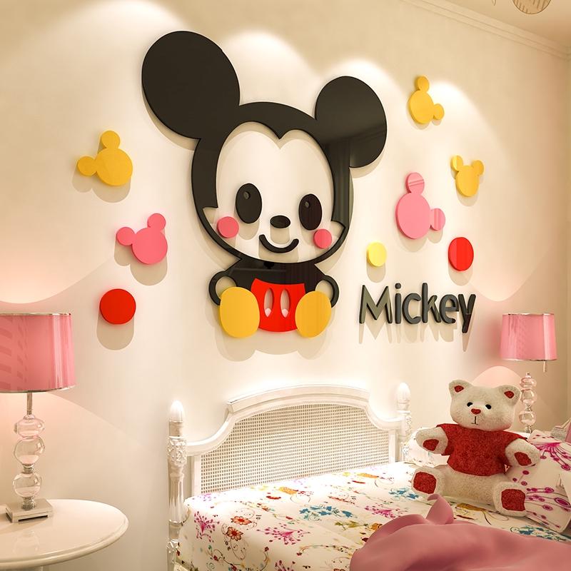 Stiker Dinding Dengan Bahan Mudah Dilepas Gambar Mickey Minnie Mouse 3d Untuk Dekorasi Kamar Anak Shopee Indonesia